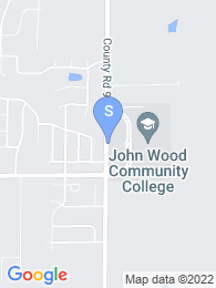 John Wood Community College map