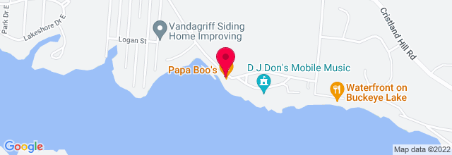 Map for Papa Boo's