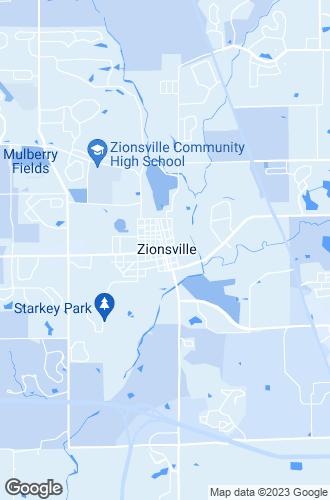 Map of Zionsville