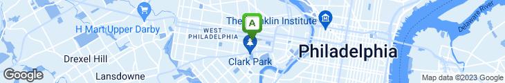 Map of Evan's Pizza