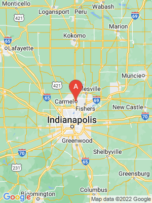NEW HOMES map in Carmel, Indiana, USA