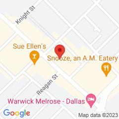 Google Map of 3920 Cedar Springs Road, Dallas, Texas 75219