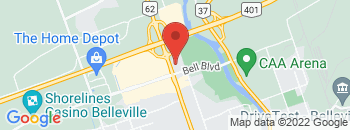 Google Map of 397+North+Front+Street%2CBelleville%2COntario+K8P+3C8