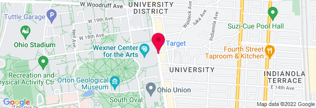 Map for Weigel Hall, Wexner Center for the Arts