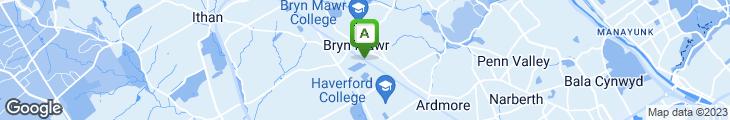 Map of Bryn Mawr Pizza