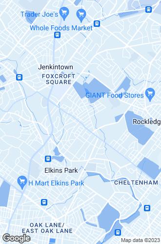 Map of Elkins Park