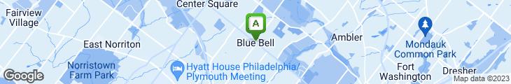 Map of Blue Bell Inn