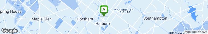 Map of Hatboro Pizza