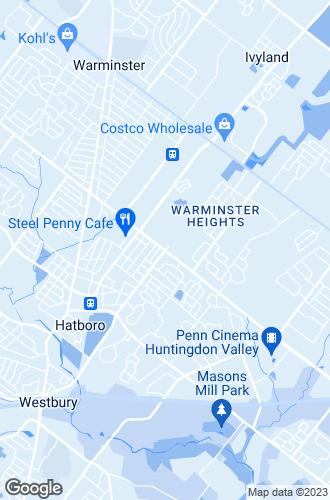 Map of Hatboro