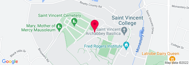 Map for Carey Center at St. Vincent College