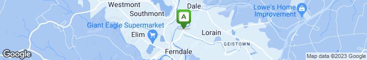 Map of Fox's Pizza Den