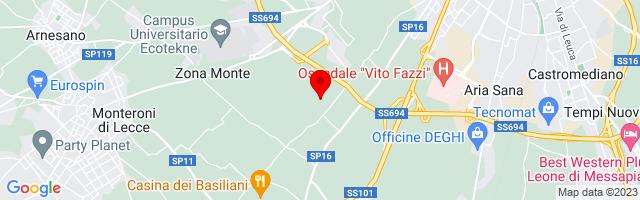 Google Map di 40.3280107,18.1360854
