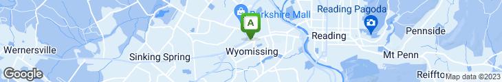 Map of Wyomissing Family Restaurant