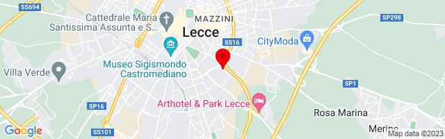 Google Map di 40.34445080136368,18.18308115005493