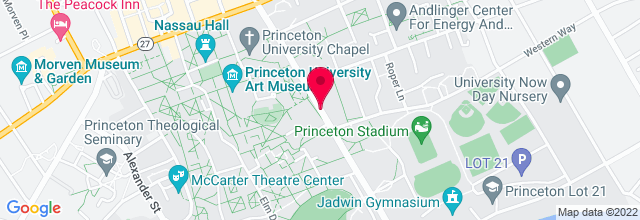 Map for The Terrace F. Club , Princeton University