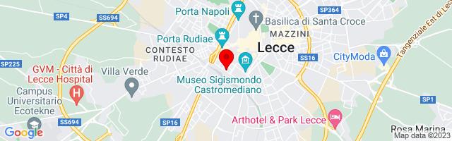 Google Map di 40.34716556299456,18.165593147277832