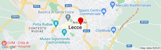 Google Map di 40.35269287243362,18.1813645362854