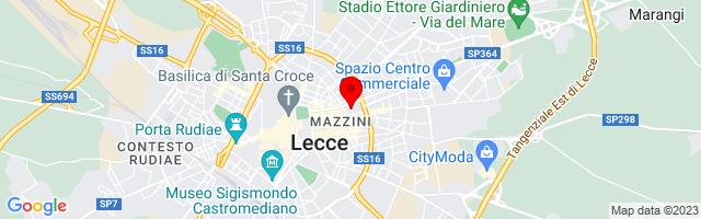 Google Map di 40.35545635727586,18.182544708251953