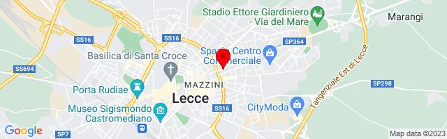 Google Map di 40.356895286791676,18.185720443725586