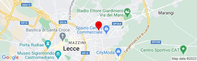 Google Map di 40.359200780292404,18.19284439086914