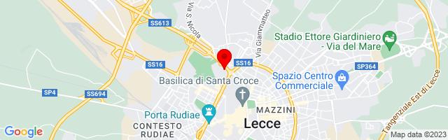 Google Map di 40.361457144401655,18.16829681396484