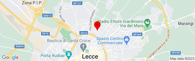 Google Map di 40.36376248190579,18.180763721466064