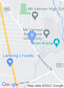 Mount Vernon Nazarene University map