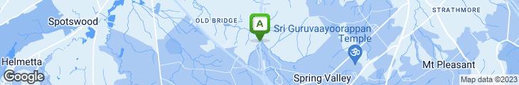 Map of Bridgeway Diner & Restaurant