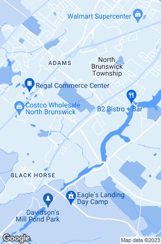 Map of North Brunswick