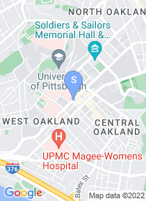 University of Pittsburgh map