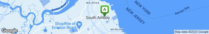Map of South Amboy Pizza Palace