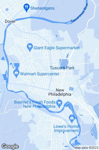 Map of New Philadelphia