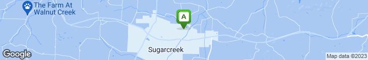 Map of Sugarcreek Lanes Restaurant