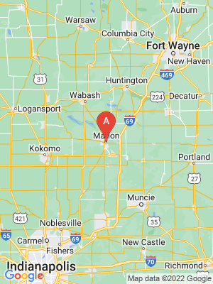 NEW HOMES map in Marion, Indiana, USA