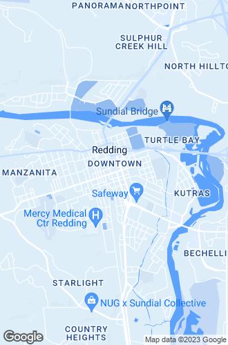 Map of Redding