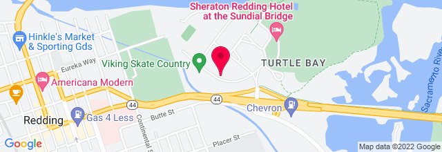 Map for Redding Convention Center