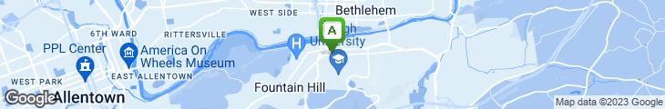 Map of Deja Brew Coffeehouse & Deli