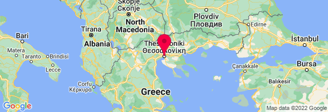 Map of Thessaloníki, Greece
