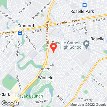 Map of Canon Solutions America at 11 Commerce Drive, Cranford, NJ 07016