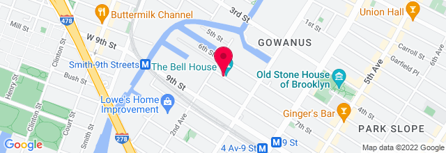 Map for The Bell House
