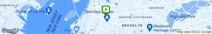 Map of Brooklyn Pizza