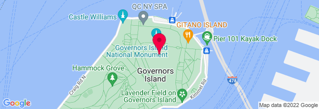 Map for The Beach at Governor's Island