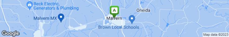 Map of Malvern Pizza Work