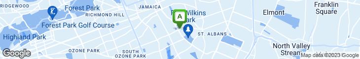 Map of Island Runnings Jamaican Restaurant