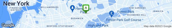 Map of Ridgewood Eats