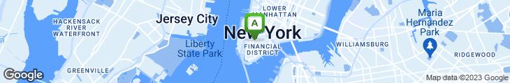 Map of Broadway Kosher Cafe & Health Bar