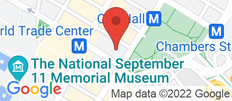 Branch Location Map - Sterling National Bank, Woolworth Branch, 233 Broadway - Suit 2205, New York NY