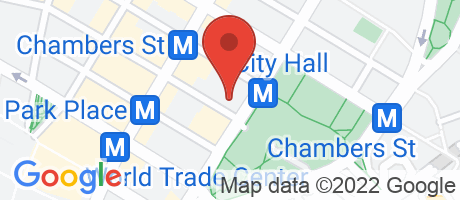 Branch Location Map - Chase Bank, City Hall Banking Center Branch, 253 Broadway, New York NY