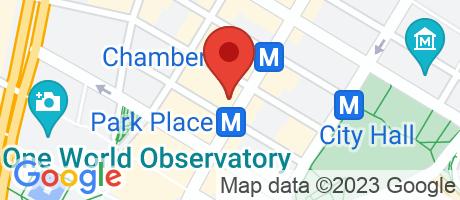 Branch Location Map - Apple Bank for Savings, Church Street Branch, 110 Church Street, New York NY
