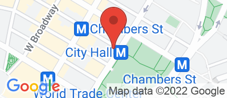 Branch Location Map - TD Bank, City Hall Branch, 258 Broadway, New York NY